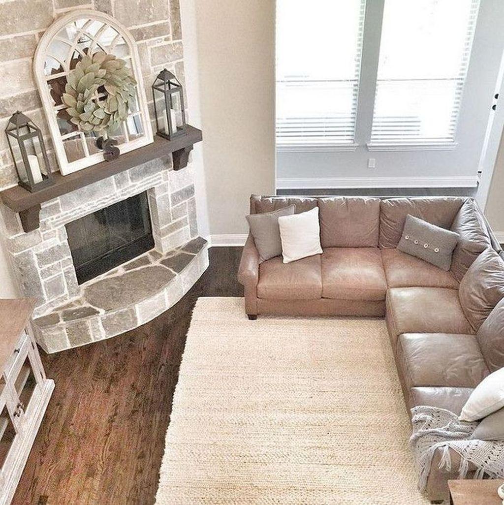 Stunning Corner Fireplace Design For Living Room 05