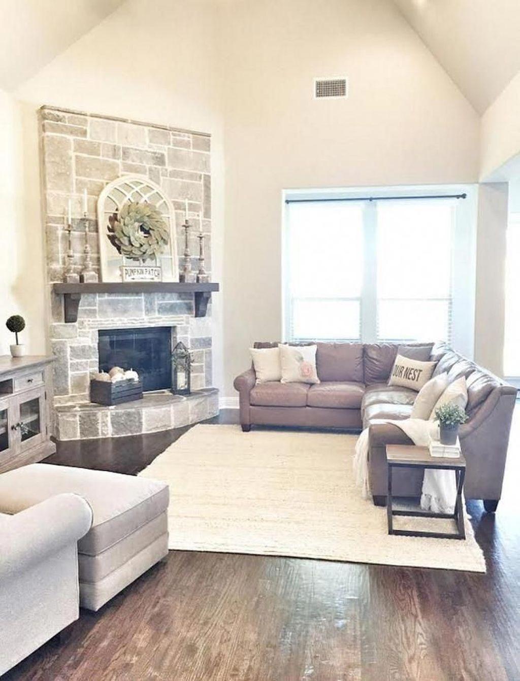 39 Stunning Corner Fireplace Design For Living Room Magzhouse