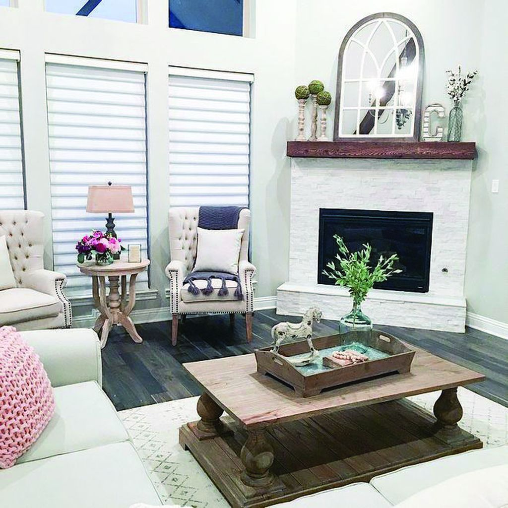 Stunning Corner Fireplace Design For Living Room 17