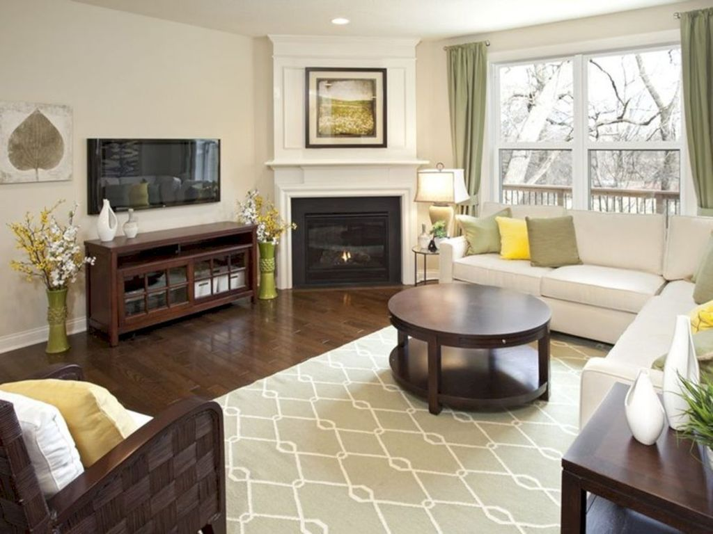 Stunning Corner Fireplace Design For Living Room 39