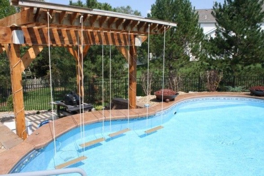Totally Difference Pool Seating Ideas To Beautify Your Backyard 13