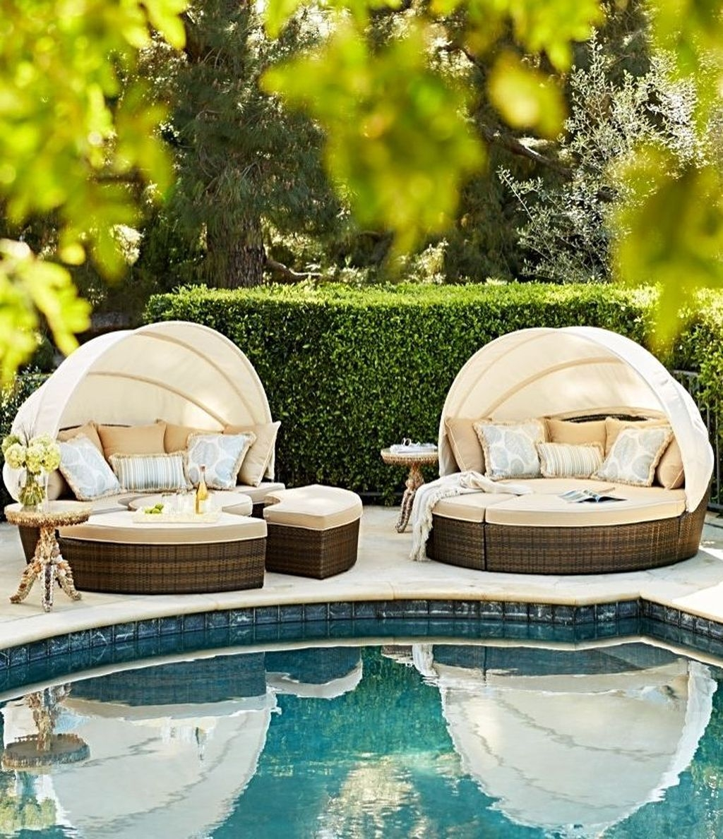 Totally Difference Pool Seating Ideas To Beautify Your Backyard 20