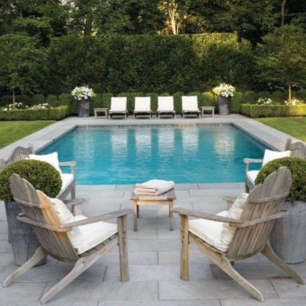 Totally Difference Pool Seating Ideas To Beautify Your Backyard 26