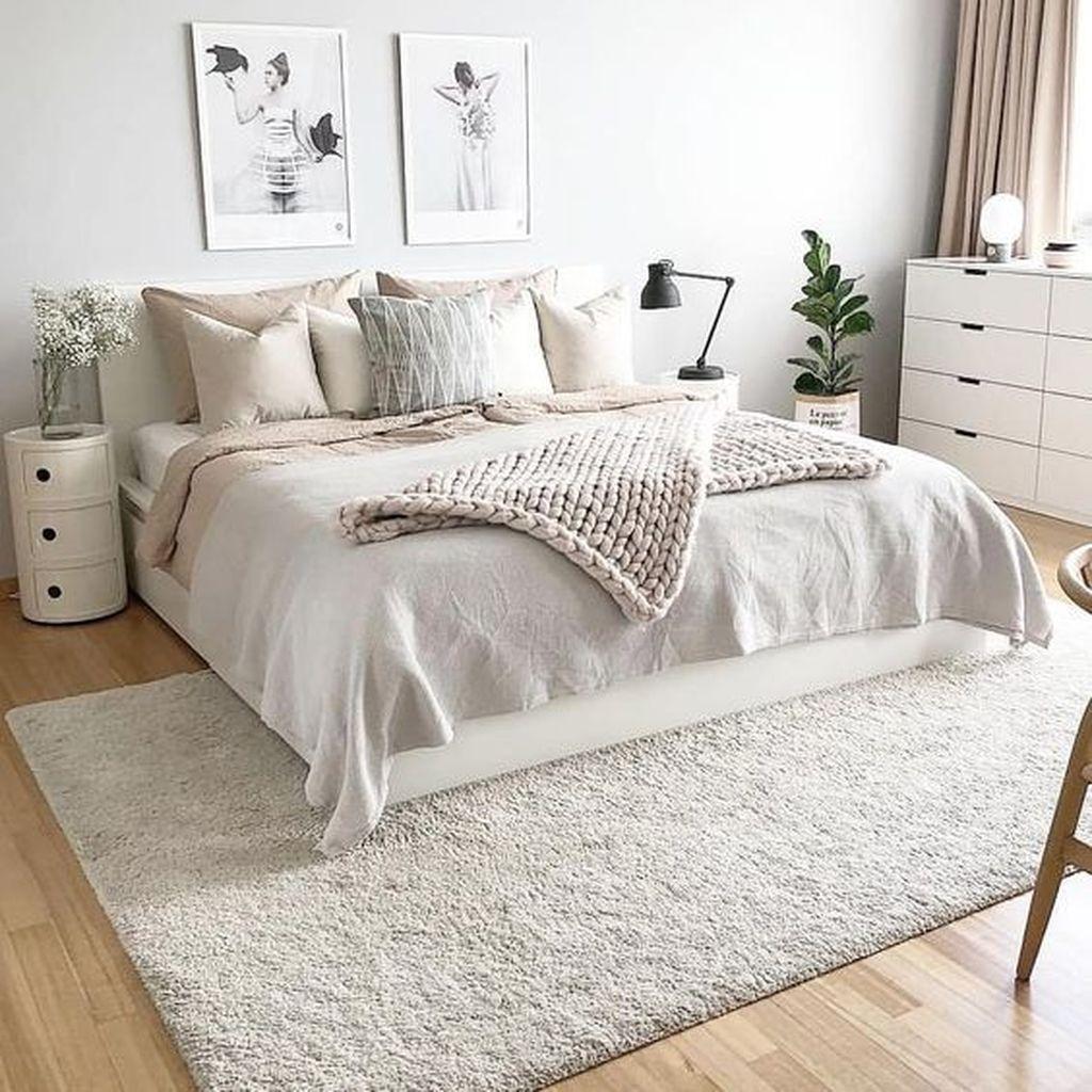 Fabulous White Bedroom Ideas To Make Your Sleep Comfortable 10