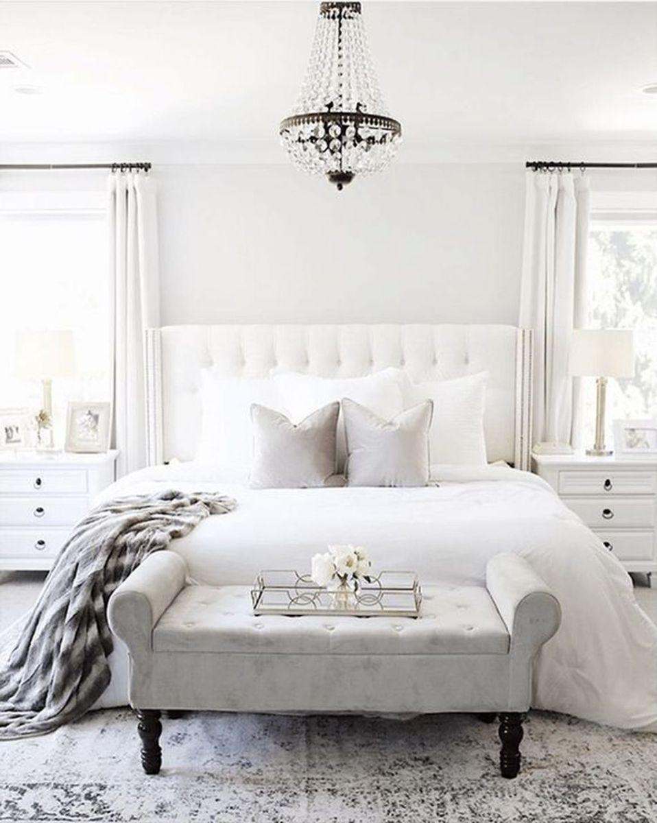 Fabulous White Bedroom Ideas To Make Your Sleep Comfortable 27