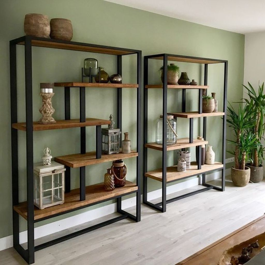 Gorgeous Industrial Living Room Design And Decoration Ideas 03