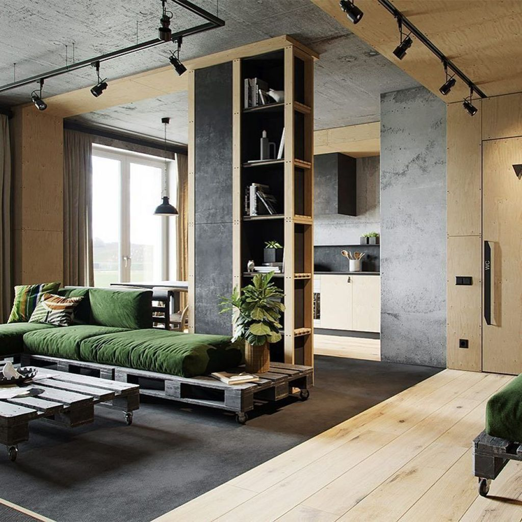 Gorgeous Industrial Living Room Design And Decoration Ideas 12
