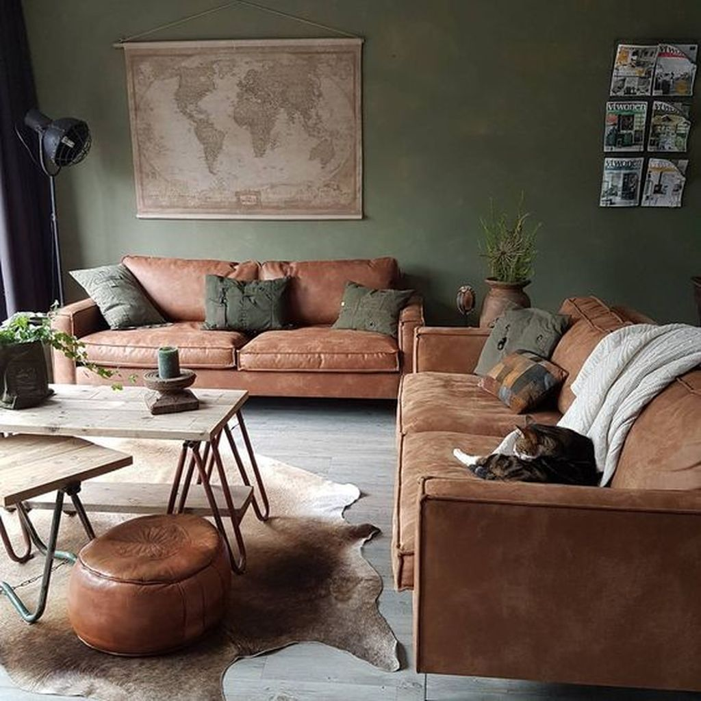 Gorgeous Industrial Living Room Design And Decoration Ideas 28