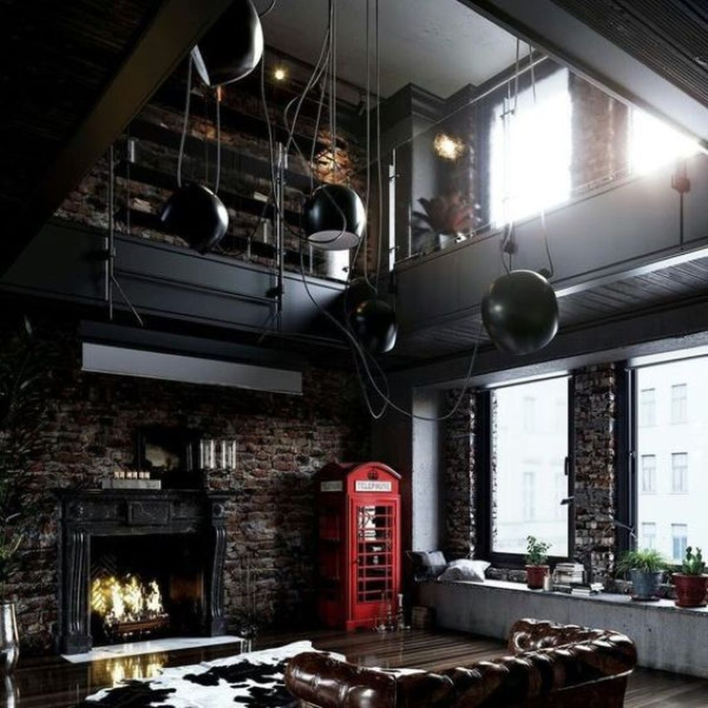 Gorgeous Industrial Living Room Design And Decoration Ideas 36