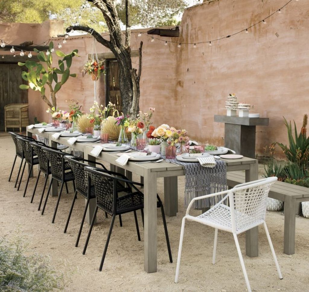 Inspiring Outdoor Dining Table Design Ideas 05