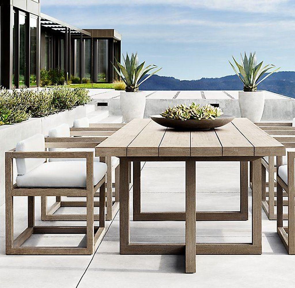Inspiring Outdoor Dining Table Design Ideas 12