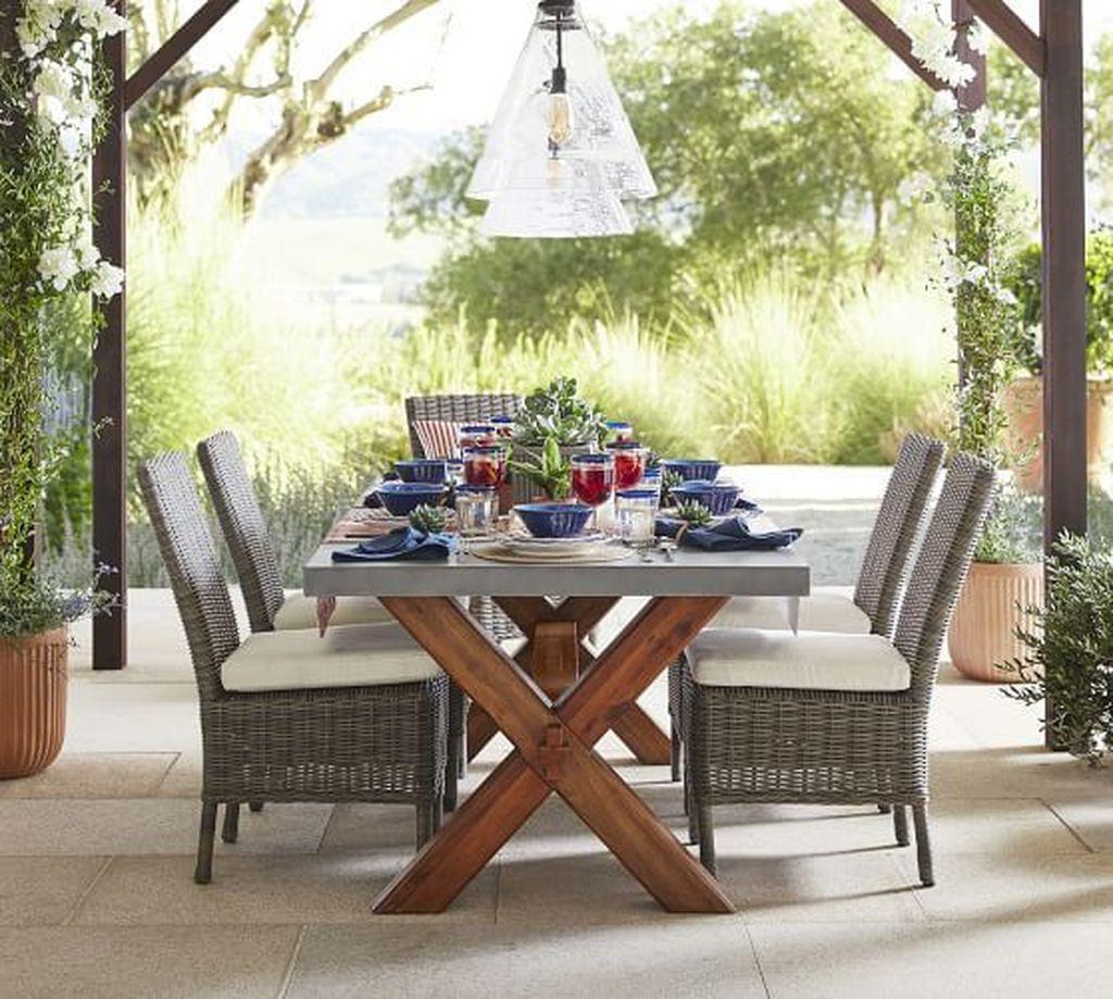 Inspiring Outdoor Dining Table Design Ideas 18