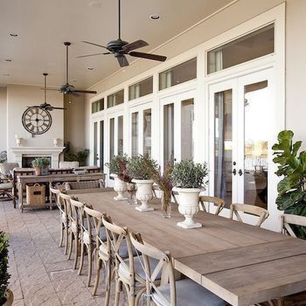Inspiring Outdoor Dining Table Design Ideas 24
