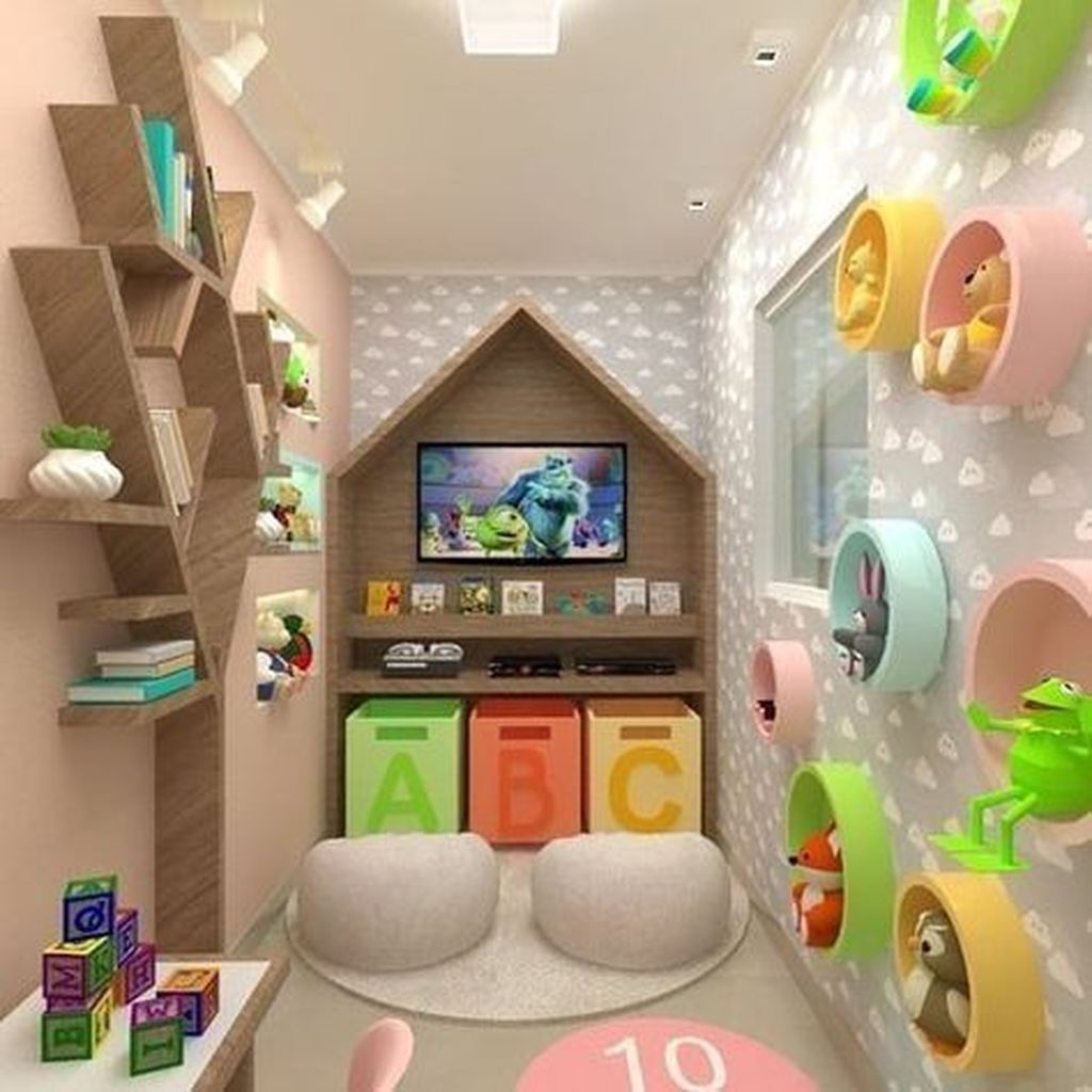 Nice Playroom Design Ideas For Your Kids 23