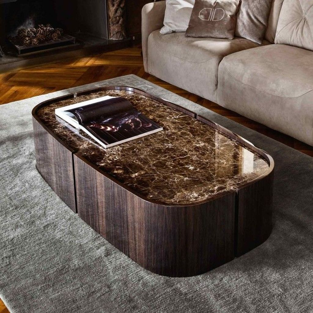 Stunning Coffee Table Design Ideas To Decorate Your Living Room 09