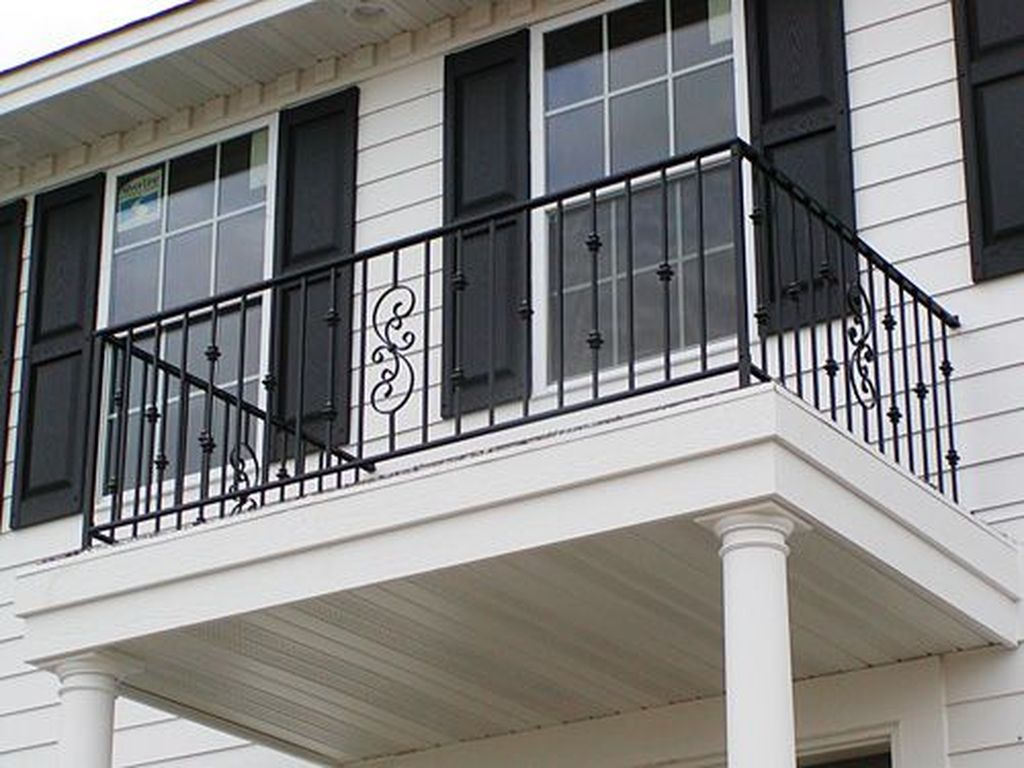 Awesome Balcony Railing Design Ideas To Beautify Your Exterior 11