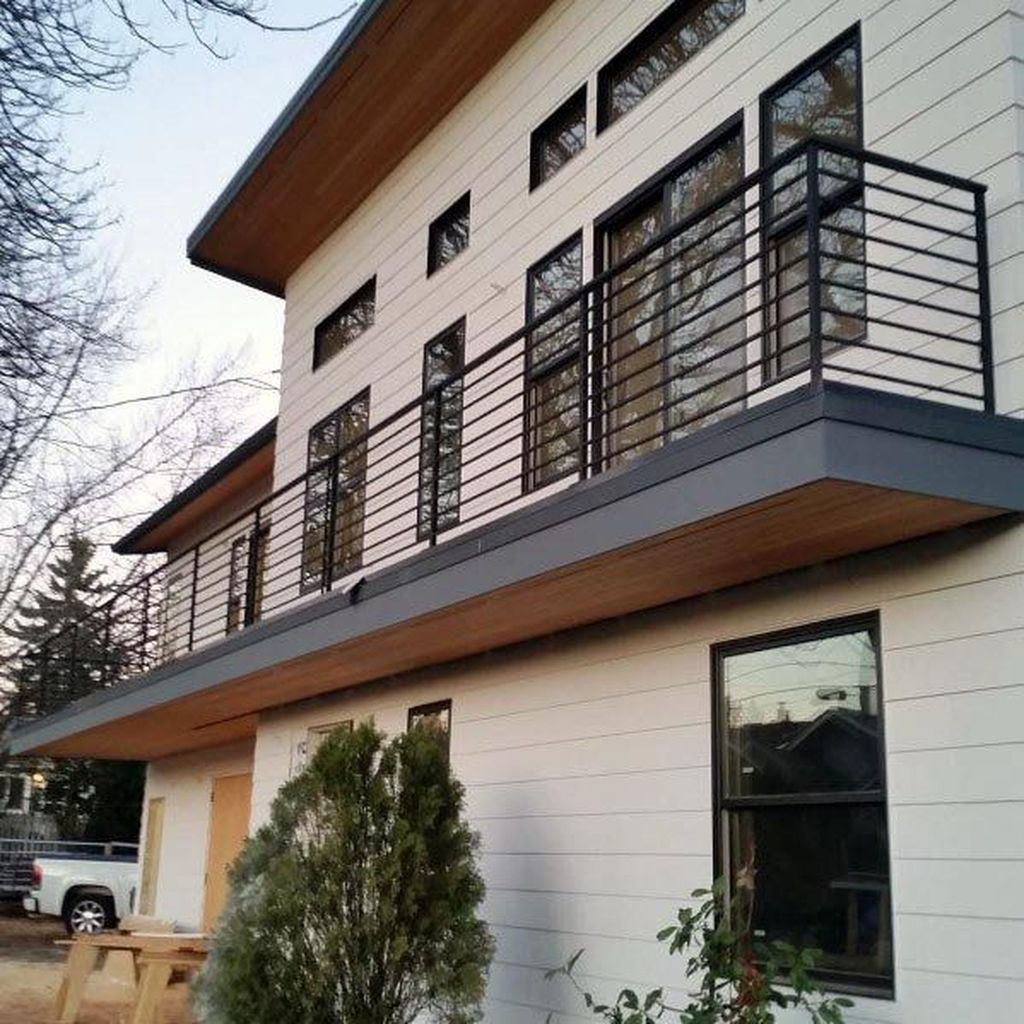 Awesome Balcony Railing Design Ideas To Beautify Your Exterior 12