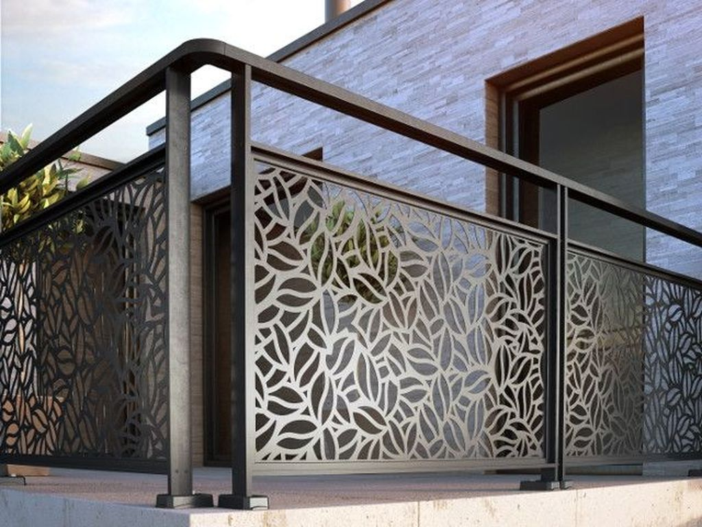 Awesome Balcony Railing Design Ideas To Beautify Your Exterior 32
