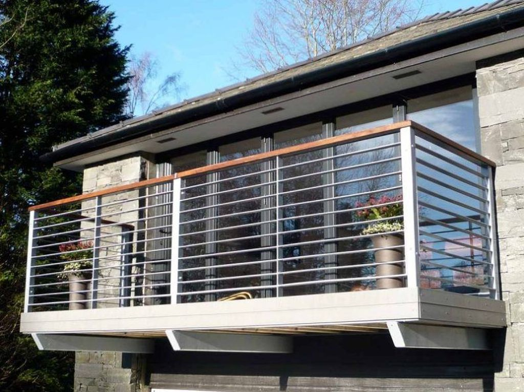 Awesome Balcony Railing Design Ideas To Beautify Your Exterior 33