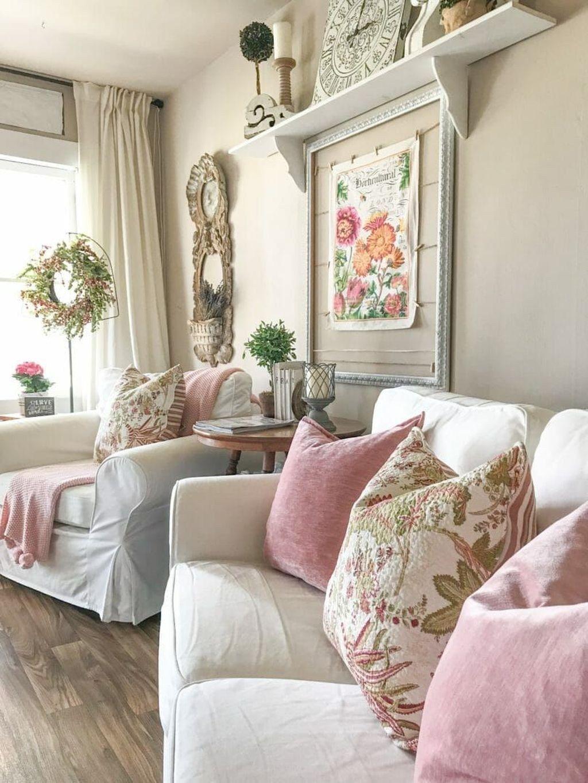 Fabulous Spring Living Room Decor Ideas 32