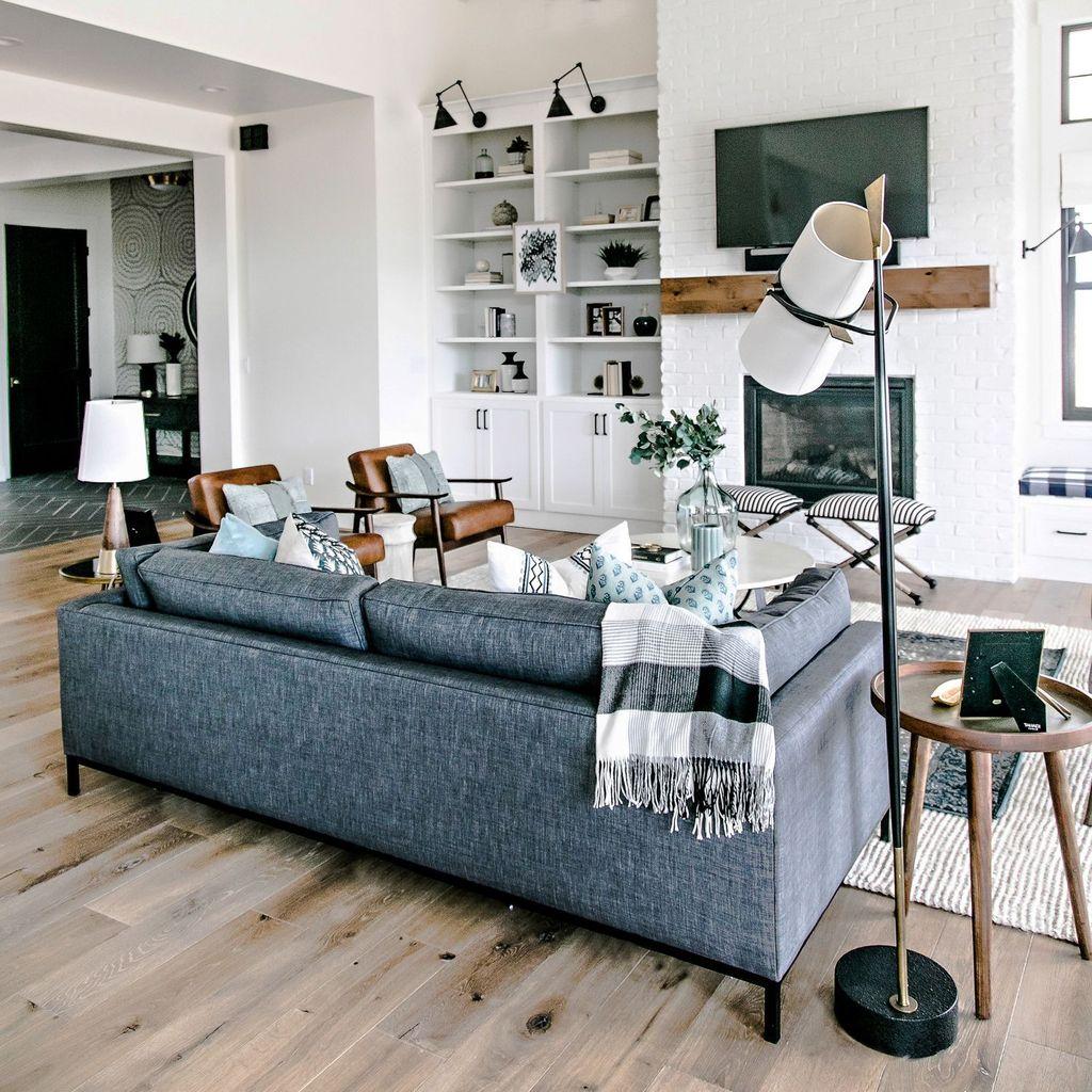 Lovely Modern Farmhouse Living Room Decor Ideas 07