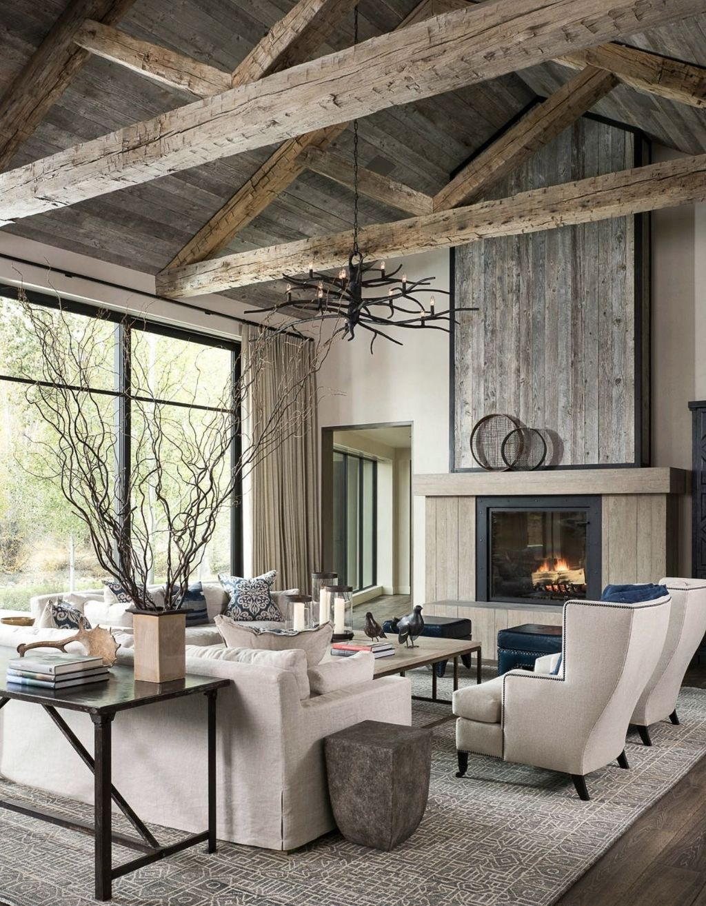 Lovely Modern Farmhouse Living Room Decor Ideas 11