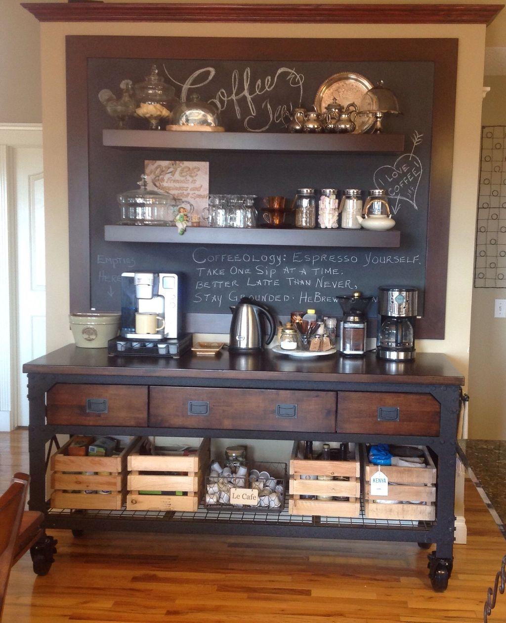 Popular Coffee Bar Ideas For Your Interior Design 05