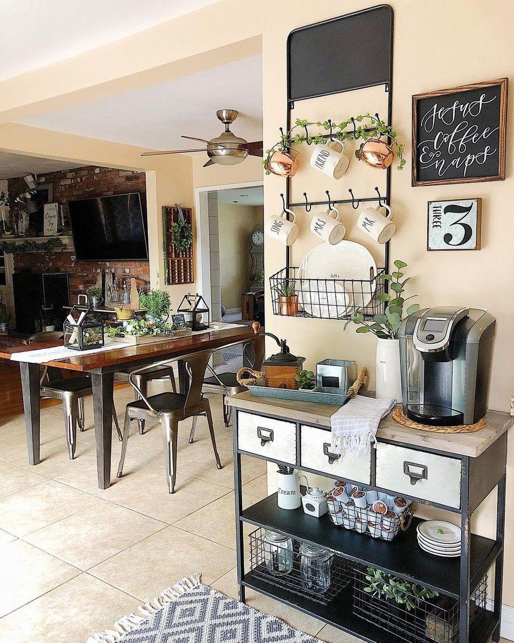 Popular Coffee Bar Ideas For Your Interior Design 10