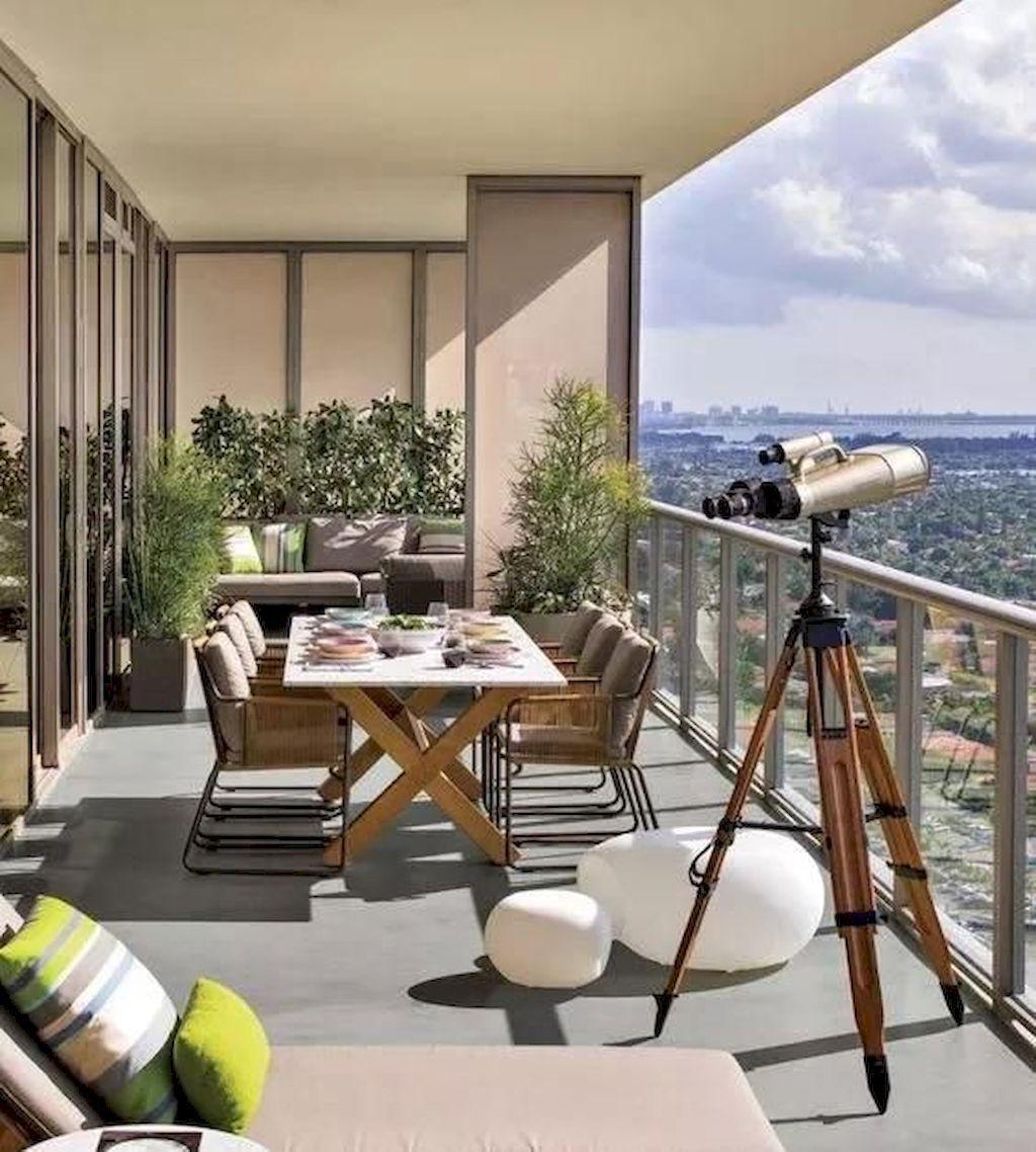 The Best Apartment Balcony Design Ideas 24