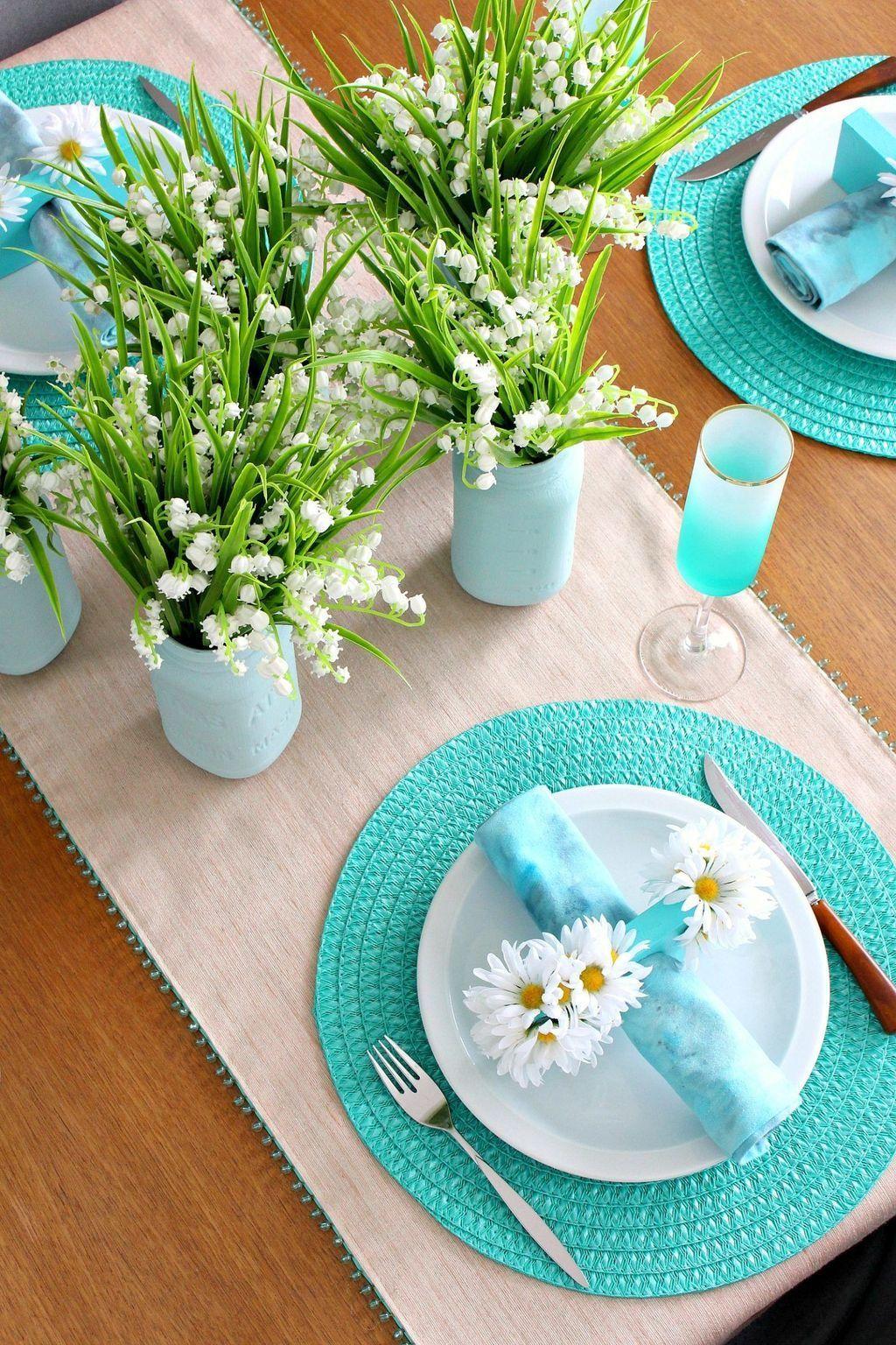 Wonderfull Spring Dining Room Decor Ideas 21