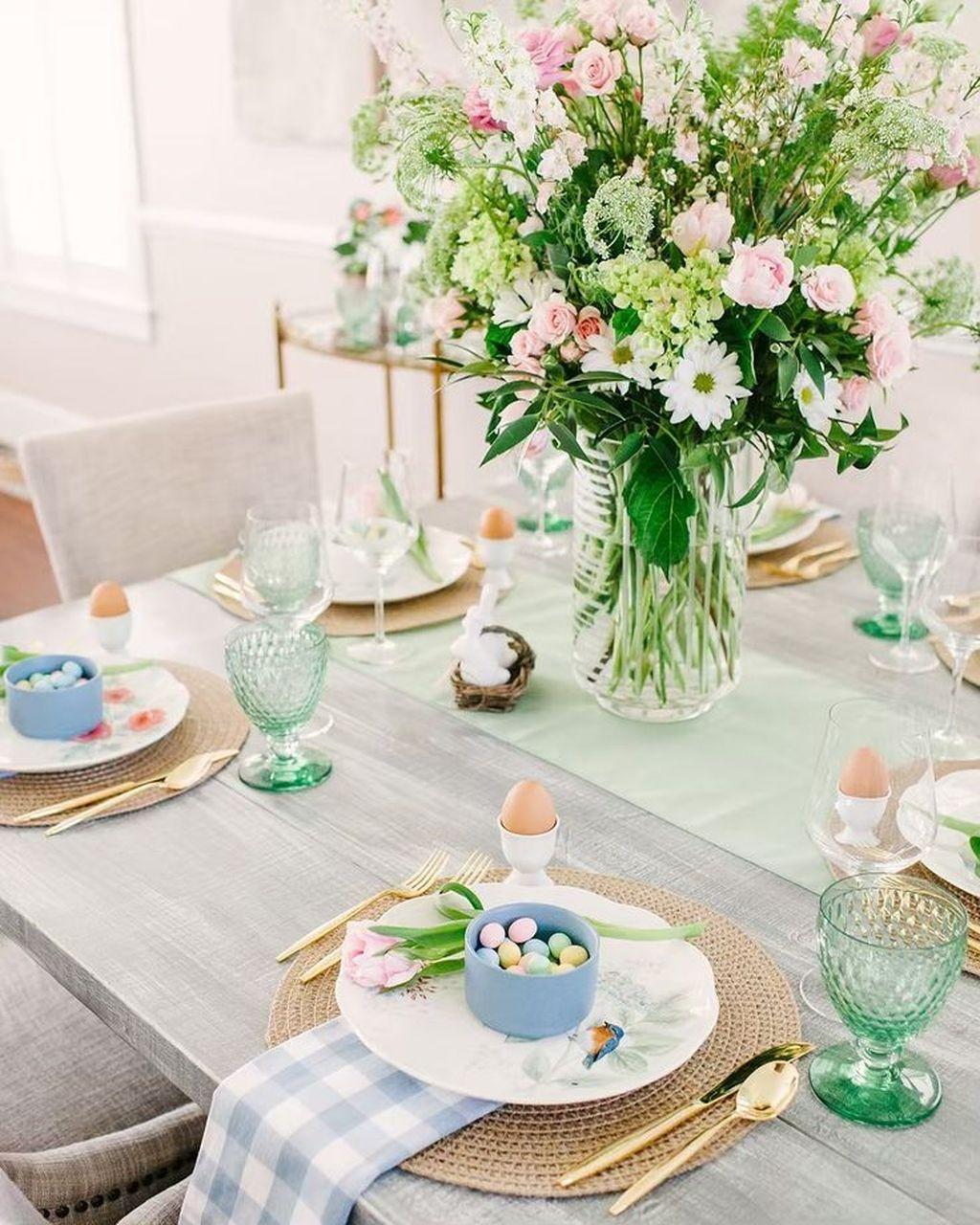 Wonderfull Spring Dining Room Decor Ideas 25
