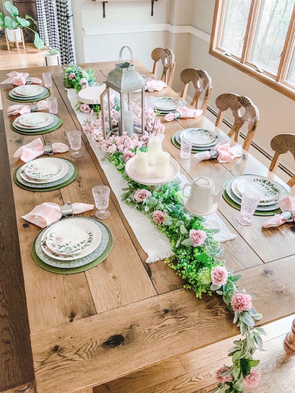 Wonderfull Spring Dining Room Decor Ideas 26