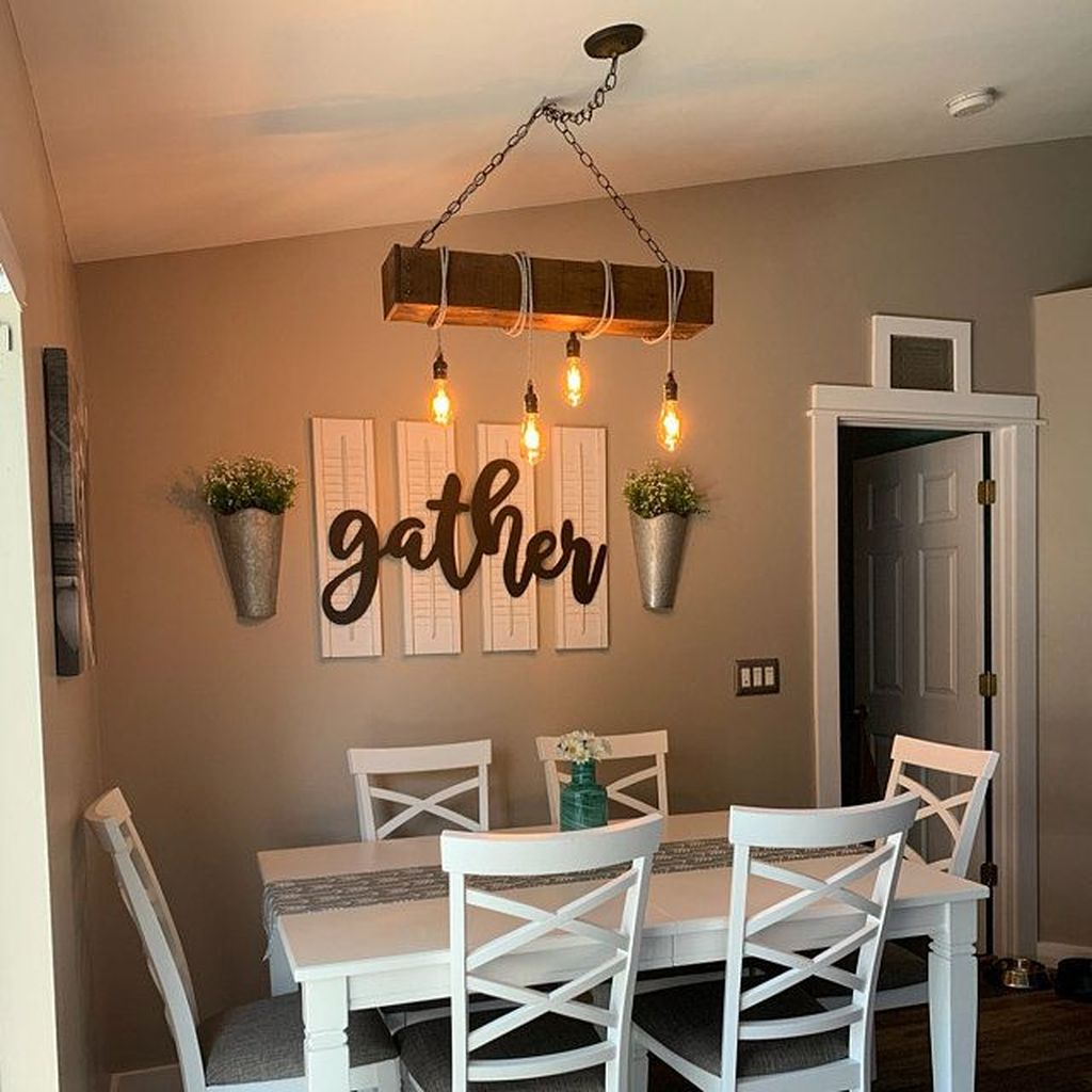 Amazing Farmhouse Dining Room Decor Ideas 10