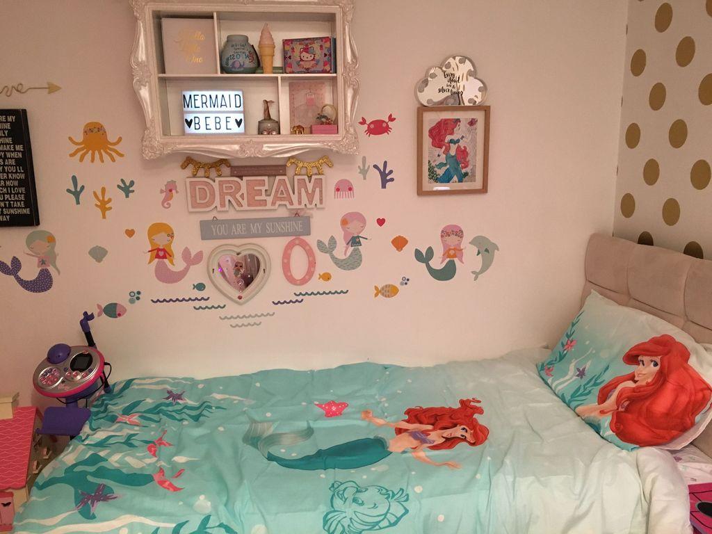 Beautiful Mermaid Theme Bedroom Decor Ideas For Girls 03