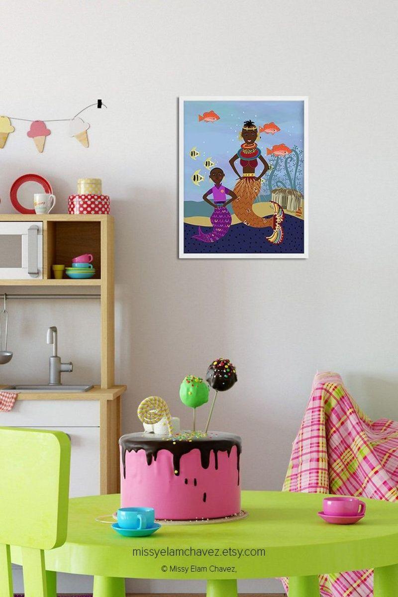 Beautiful Mermaid Theme Bedroom Decor Ideas For Girls 10