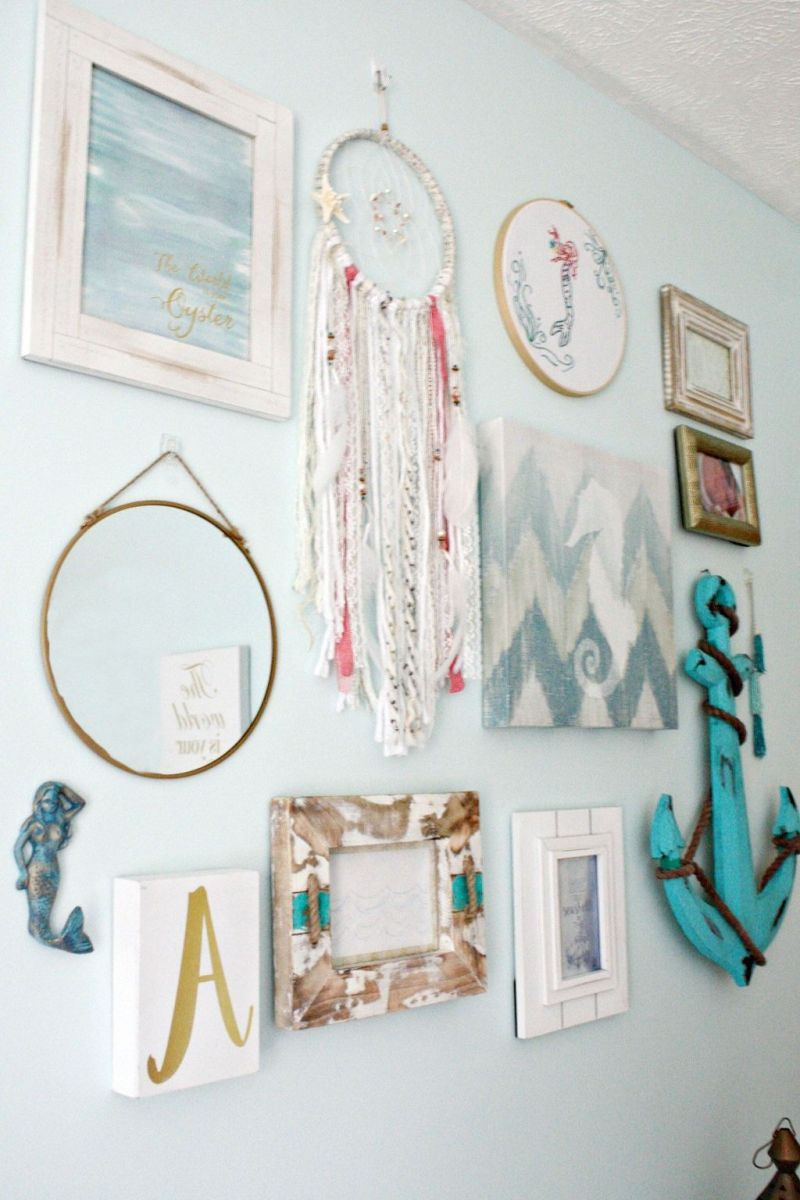 Beautiful Mermaid Theme Bedroom Decor Ideas For Girls 16