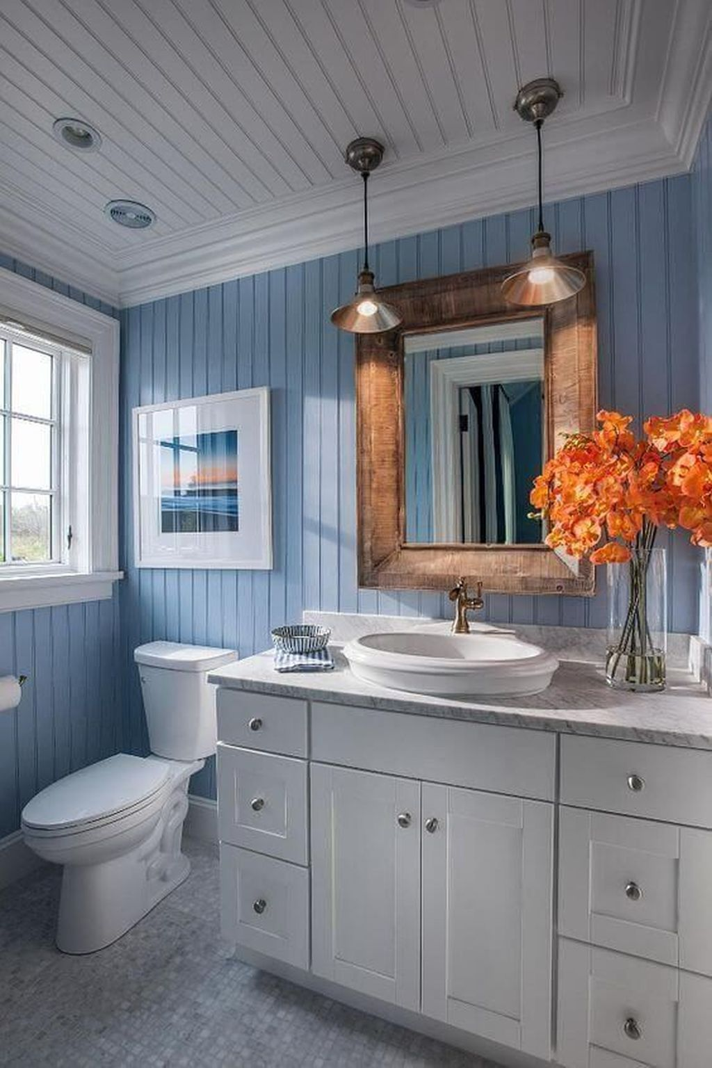 Fabulous Coastal Style Bathroom Decor Ideas 06