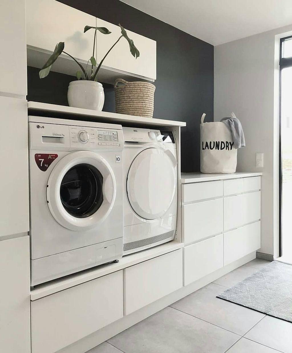 Fabulous Scandinavian Laundry Room Design Ideas 05