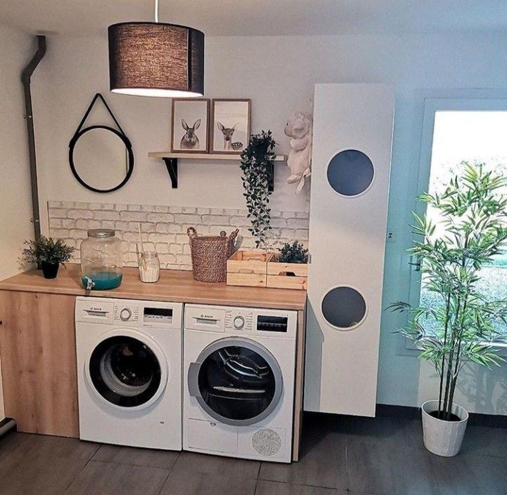 Fabulous Scandinavian Laundry Room Design Ideas 11