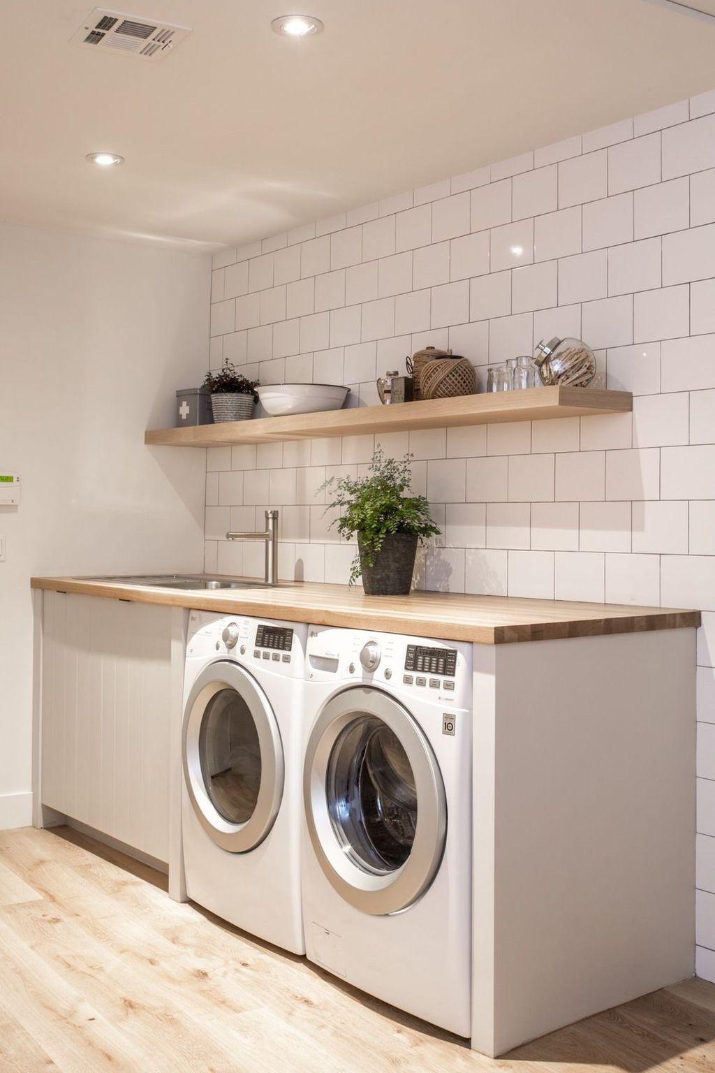Fabulous Scandinavian Laundry Room Design Ideas 24