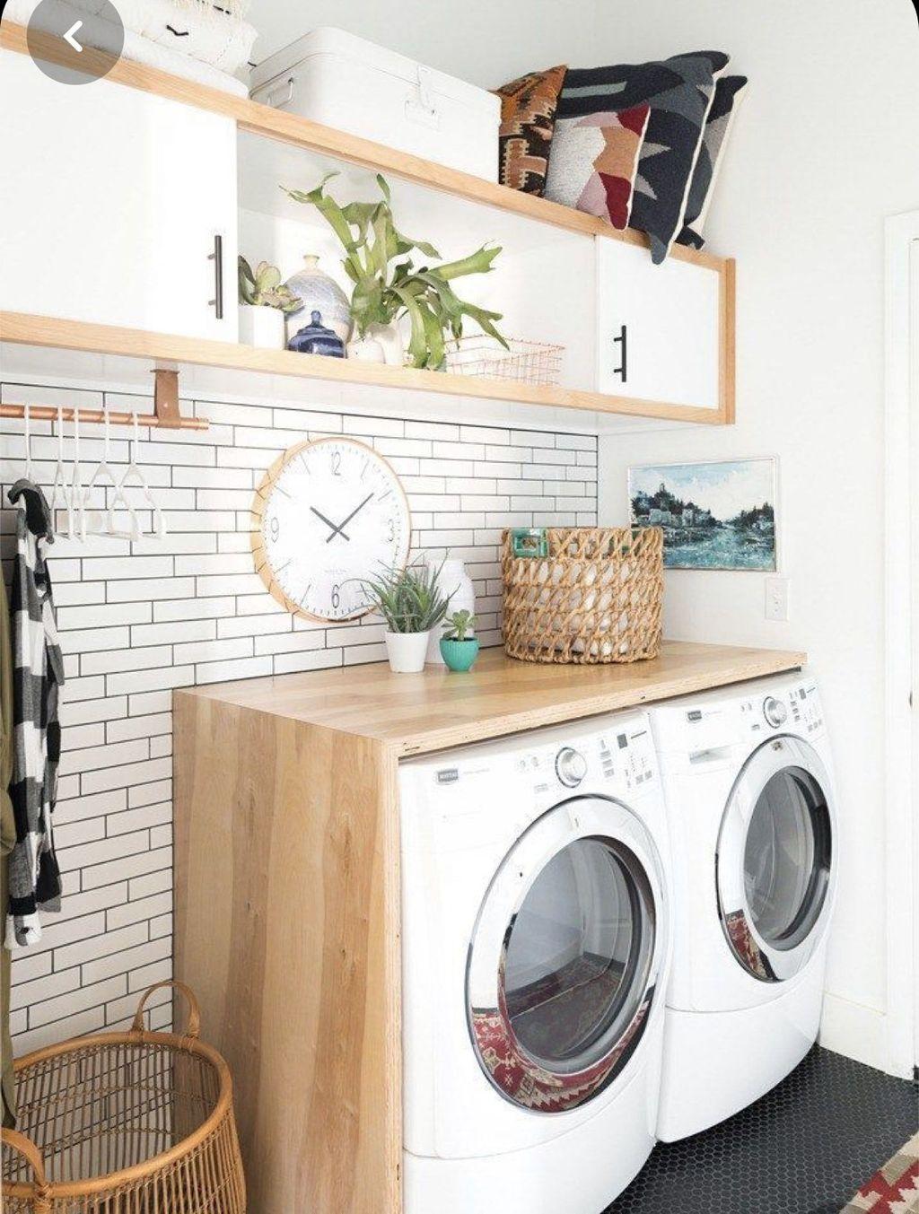 Fabulous Scandinavian Laundry Room Design Ideas 26