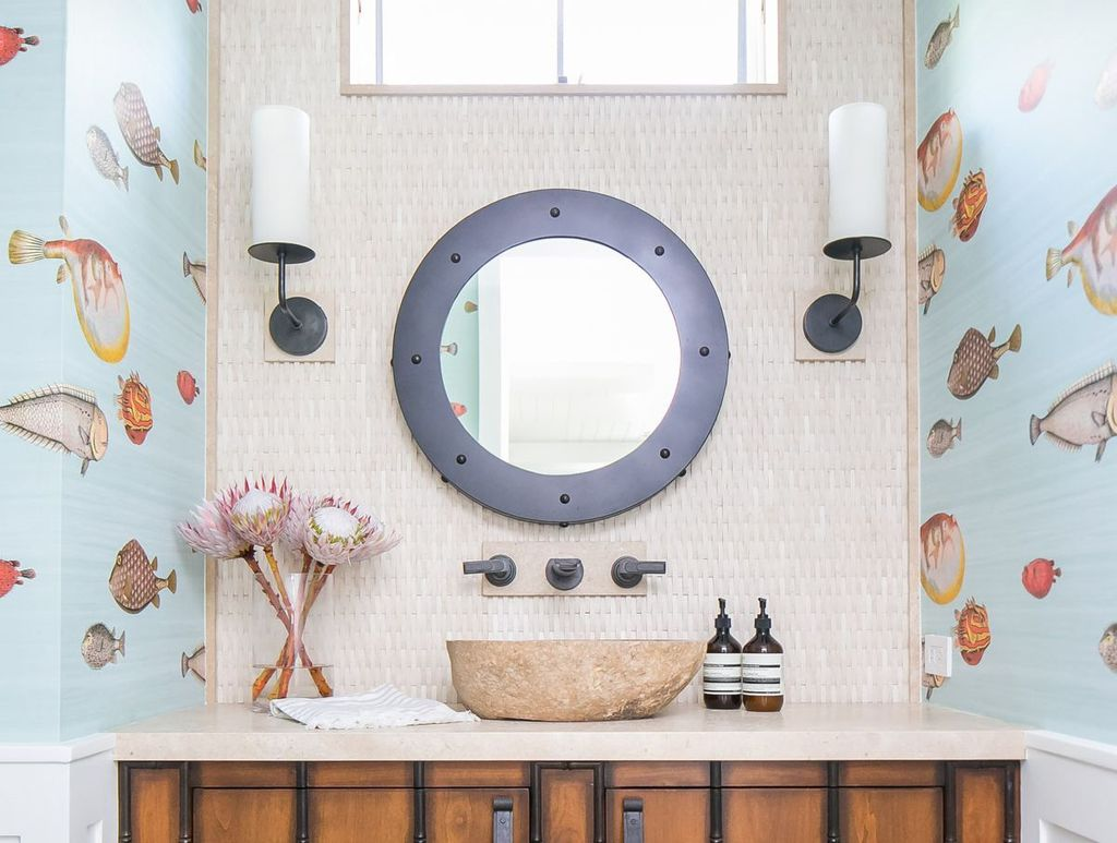 Gorgeous Beach Theme Bathroom Decorating Ideas 28