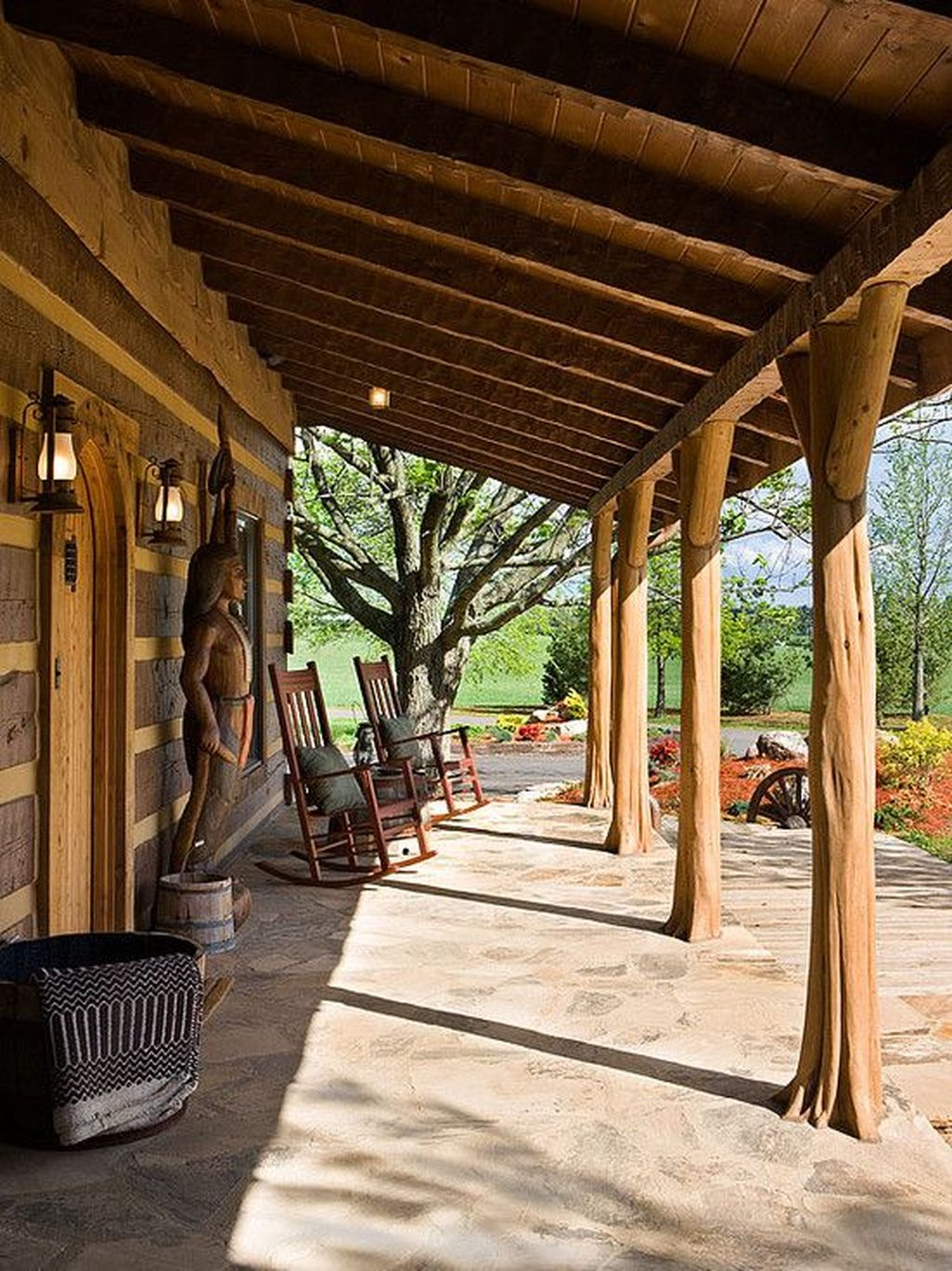 Lovely Rustic Porch Ideas To Beautify Your Home 11