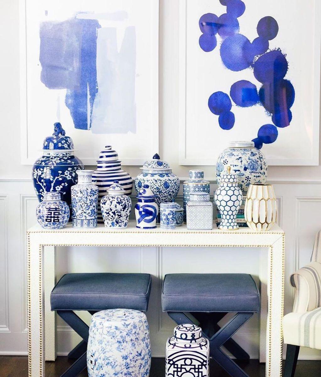 Nice Ginger Jars Decor For Living Room Decoration 01