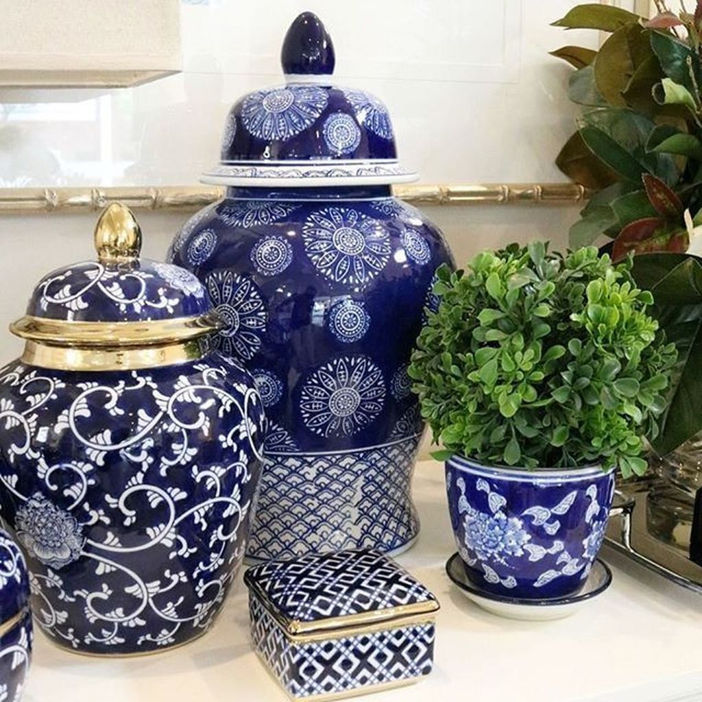 Nice Ginger Jars Decor For Living Room Decoration 09