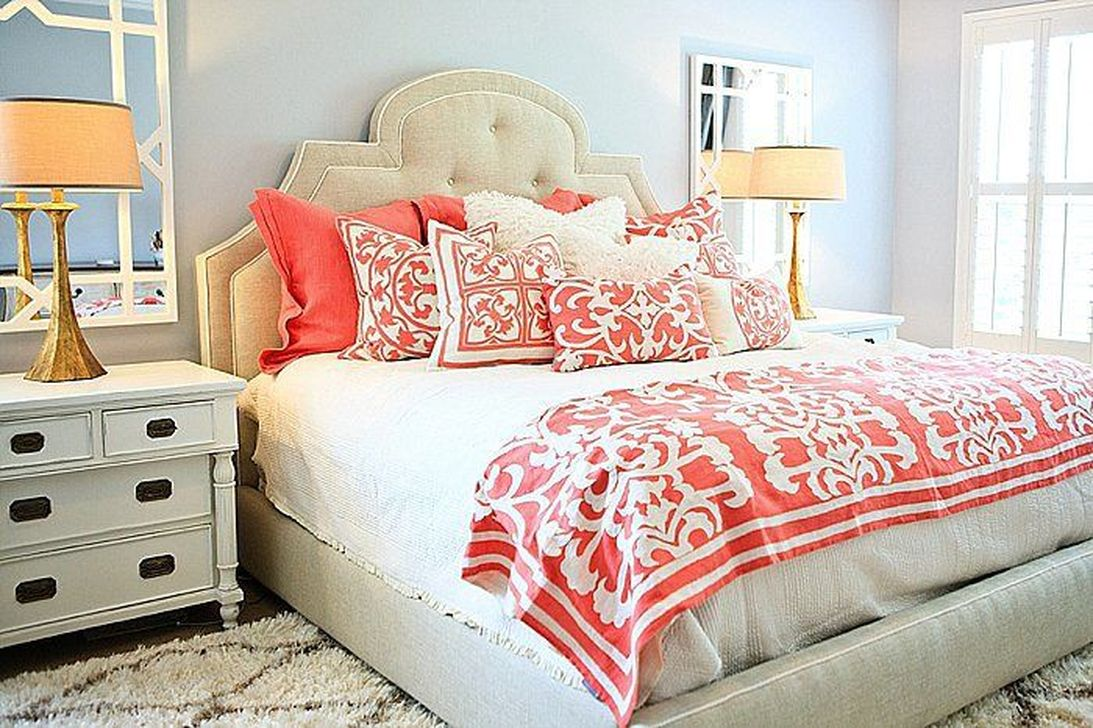 Popular Summer Bedding Ideas To Beautify Your Bedroom 07