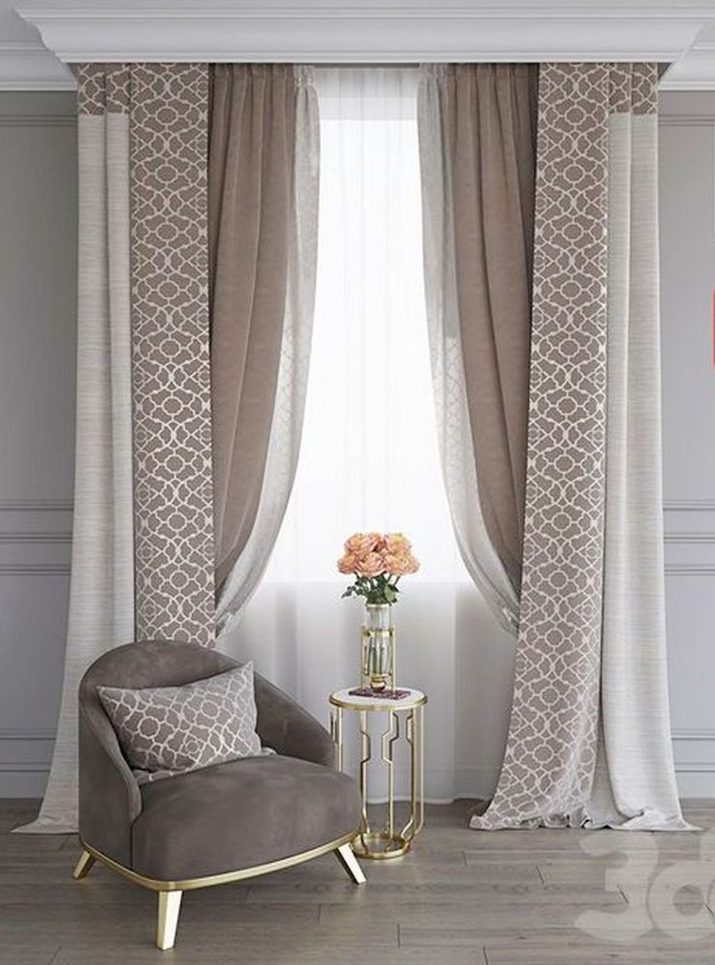 Wonderful Elegant Curtains Ideas For Living Room Decor 20