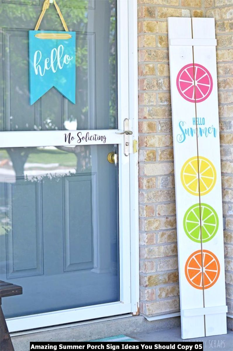 Amazing Summer Porch Sign Ideas You Should Copy 05