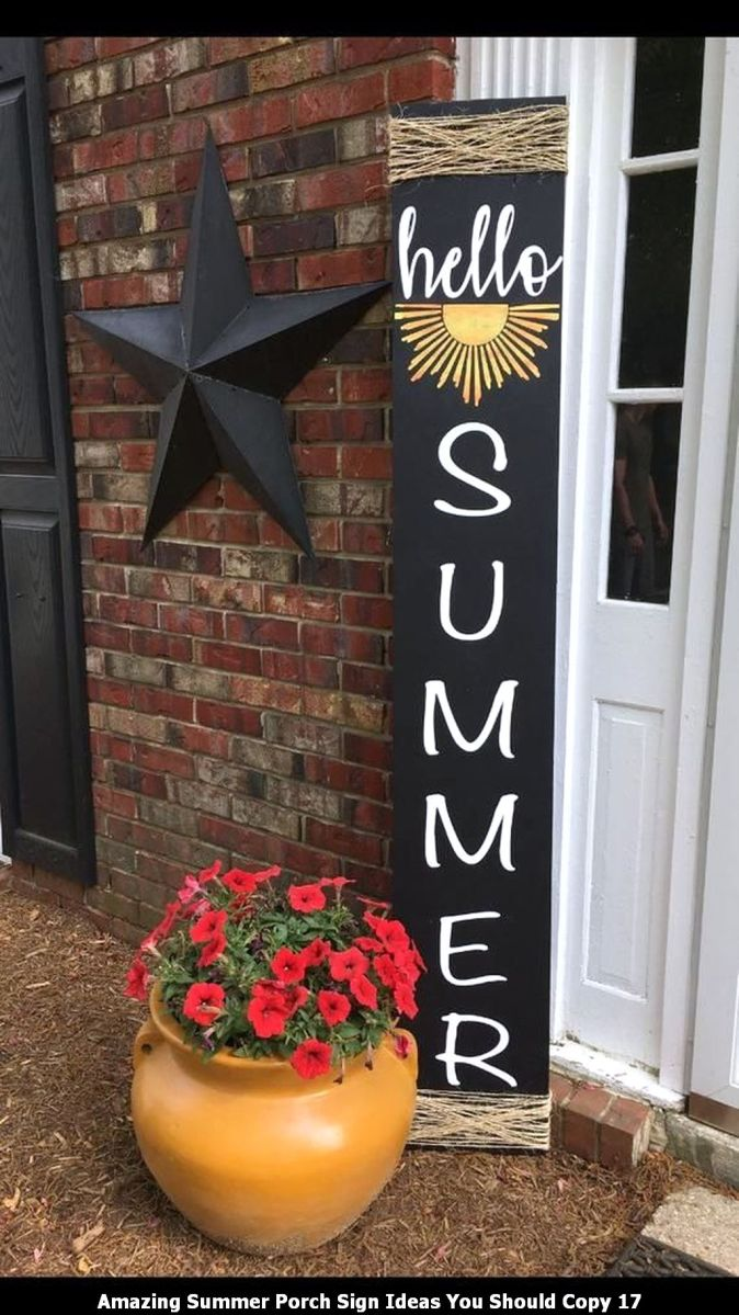 Amazing Summer Porch Sign Ideas You Should Copy 17