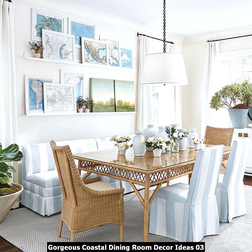 Gorgeous Coastal Dining Room Decor Ideas 03